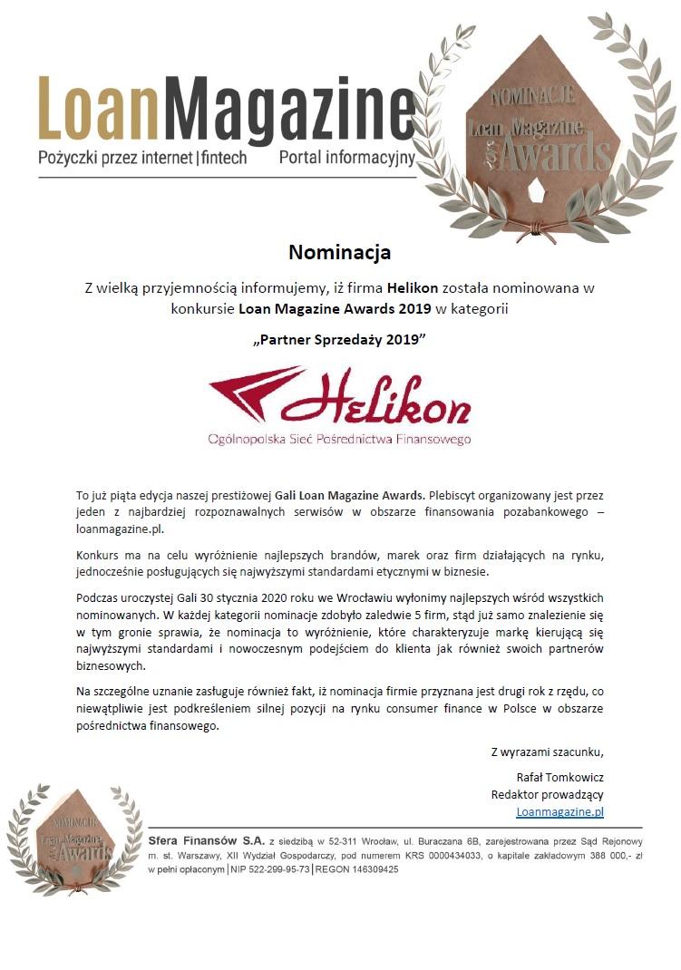 nominacja LoanMagazine